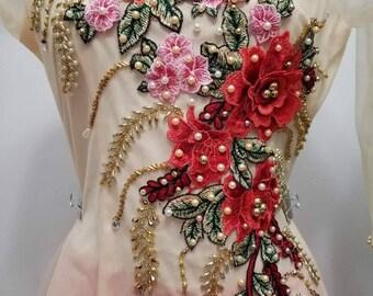 Ao Dai Ta Luoi, Vietnamese Long Dress, Double layers
