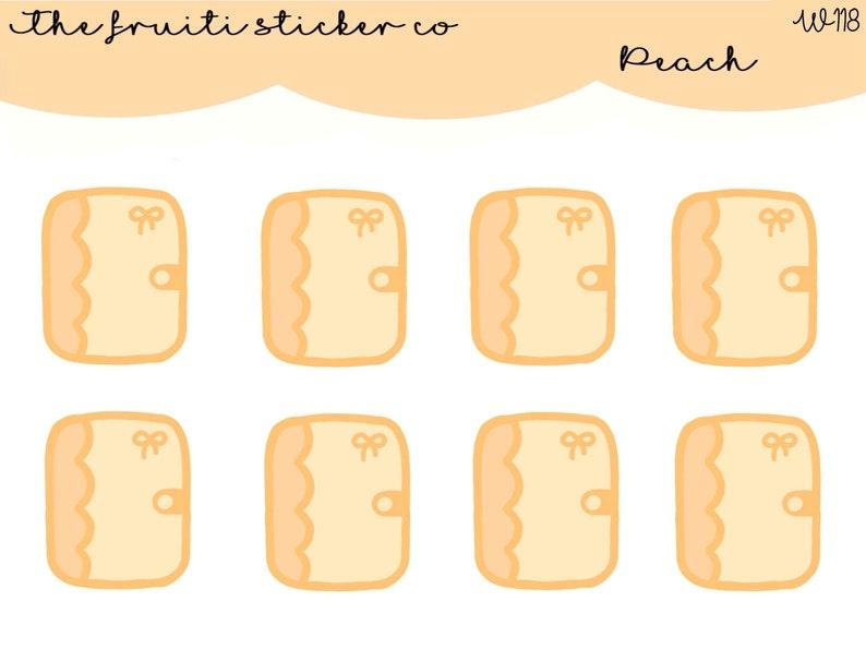 peach planner stickers