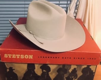 701ed478c463c Vintage Original John B Stetson Cowboy Hat