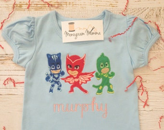e39ffe40 PJ Masks Girl's T-Shirt