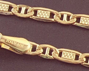 14 K Solid Yellow Gold 1.8mm Valentino Chain Necklace  18 24 Best-Selling Perfect Gift 20 22
