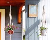 Macrame Plant Hangers, Indoor Outdoor Wall Hanging Planter, Elegant for Home, Patio, Garden, Handmade Flower Pot Holder, Home Decor, 3 Pcs