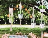 4 Pcs Macrame Plant Holders, Macrame Cotton Rope Plant Holders, 4 Styles,Boho Chic Plant Holders, Indoor Home Decor.