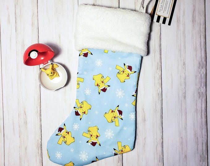 Santa Hat Pikachu Christmas Stocking