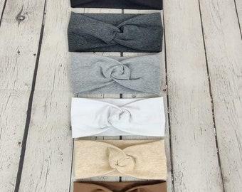 Set of Six Faux Knot Headbands - Neutrals - Twist Headband