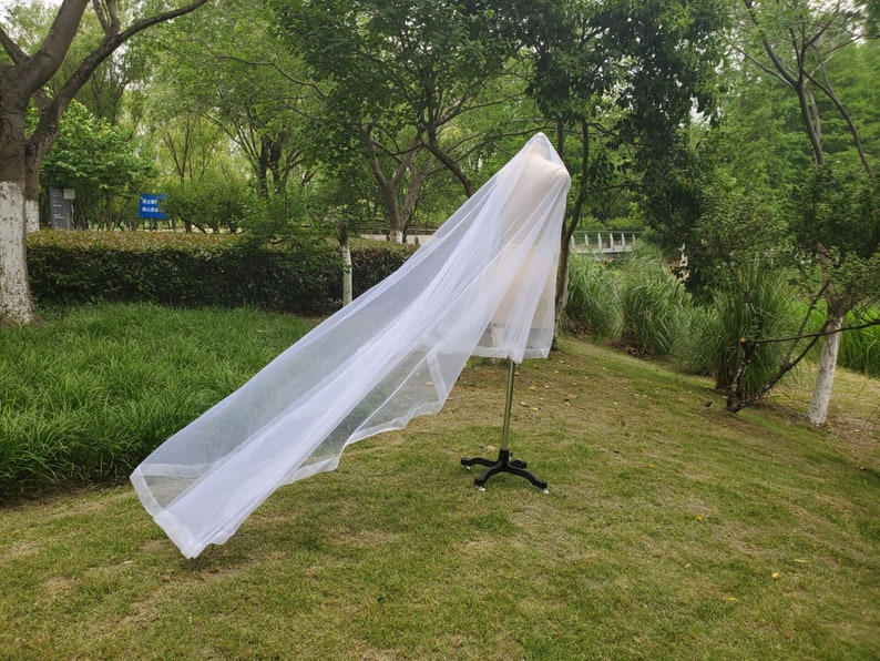 soft Ivory Horsehair Veil 110 Cathedral Tulle Veil Horsehair wedding drop veil Bridal Wedding Horsehair veil Drop Chapel Horsehair veil
