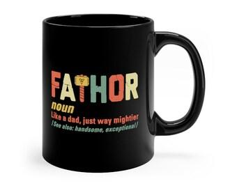 ec75c80527d Vintage Fa-thor Mug - Fathor Birthday - Fa Thor Definition Cup - Father s  Day Gift Ideas - Funny Dad Coffee Mug For Men - Retro 11oz 15oz