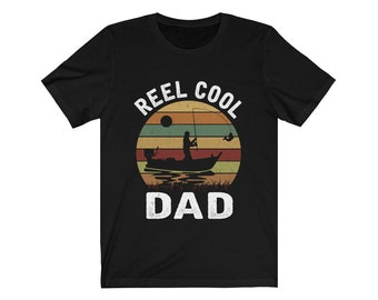 a038a5c43 Vintage Reel Cool Dad Shirt Fisherman Daddy T-shirt - Funny Retro Fishing  Papa Tee - Father's Day Gift Ideas From Daughter Son Wife Unisex