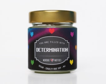 DETERMINATION    Soy Candle (4oz)   UNDERTALE INSPIRED