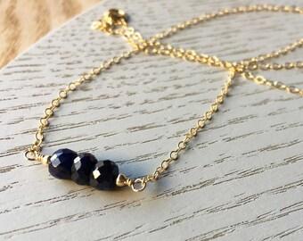 Sapphire Necklace - September Birthstone - Stillbirth Gift