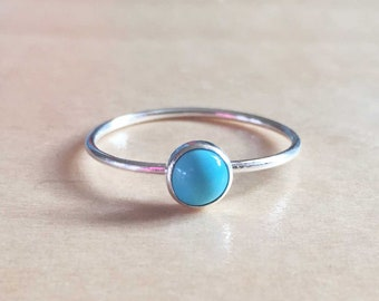 Stillbirth Birthstone Ring - December - Turquoise