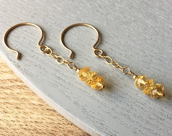 Memorial Jewellery - Citrine Birthstone - Miscarriage Gift - Loss of Child