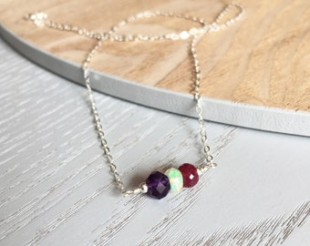 Mother's Jewellery, Family Necklace, Birthstone