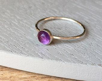 Amethyst Birthstone - Stillbirth Memorial Ring