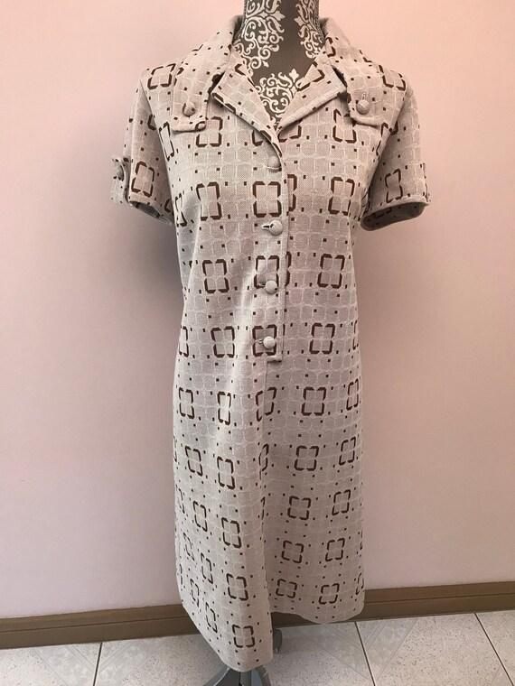 """60s 70s """"Saville Fashion Garments"""" Shift Dress"""