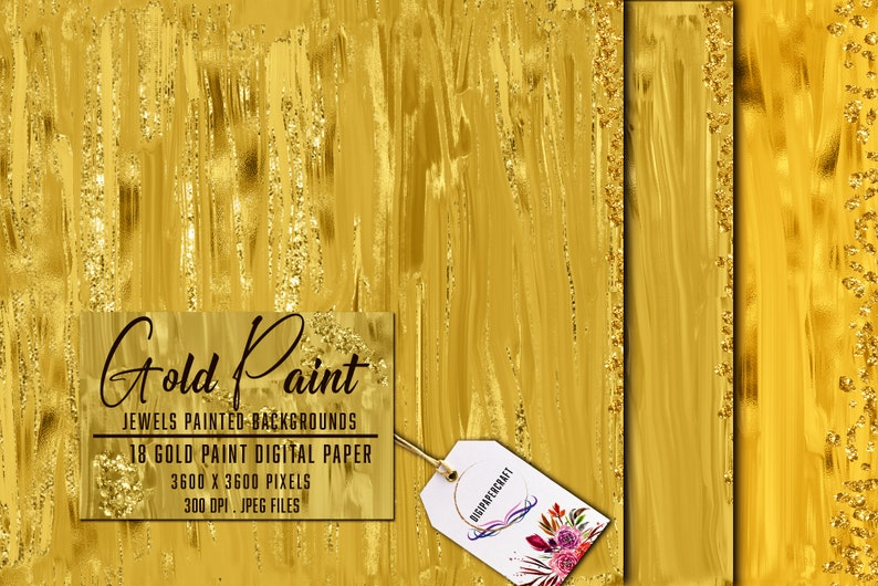 Gold Paint digital Backgrounds glitter sparkle Gold digital paper metallic paint textures digital files Abstract gold paint strokes