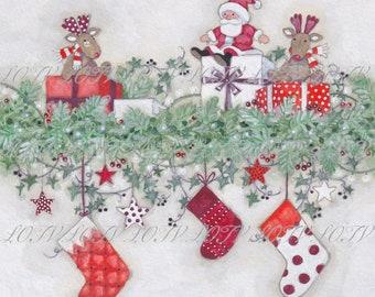 Traditional Christmas - Christmas, Artwork, Watercolour, Digital