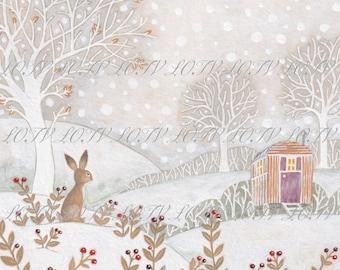 Cosy Winter - Christmas, Artwork, Watercolour, Digital