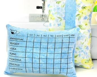 "Sewing machine needles Pincushion ""Light Blue 024"" for 8 different needle types, needle organizer"