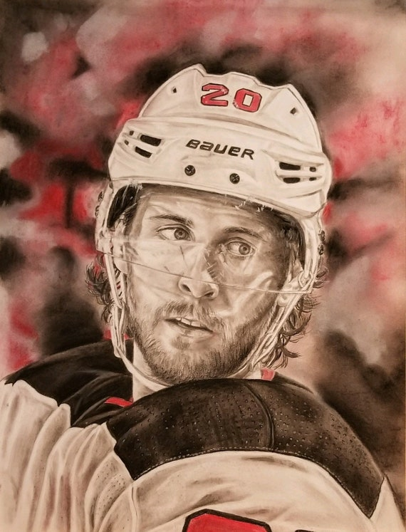 hot sale online abb79 40063 NJ Devils Blake Coleman limited edition print (signed and numbered by  artist)