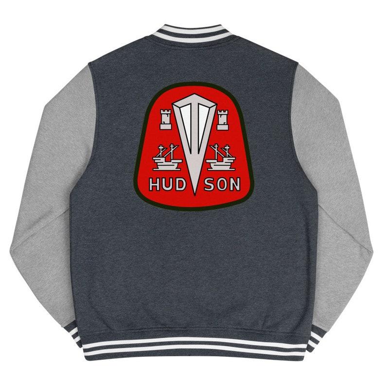 1940s  1950s Hudson Motor Car Company Logo Retro Custom Men/'s Letterman Jacket