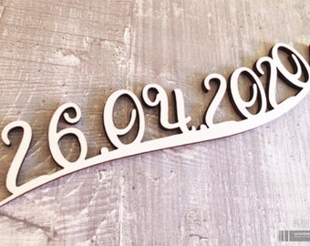 Lettering / date of wood / wish lettering / place cards / wedding place cards / wood engraving