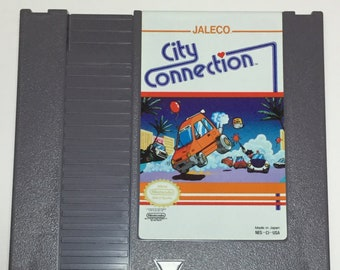 City Connection - Nintendo NES - Original Game Cart - Tested & Working