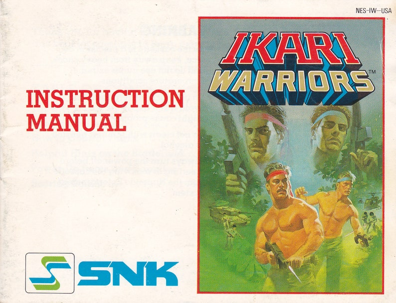Ikari Warriors  Nintendo NES  Original MANUAL ONLY  image 0