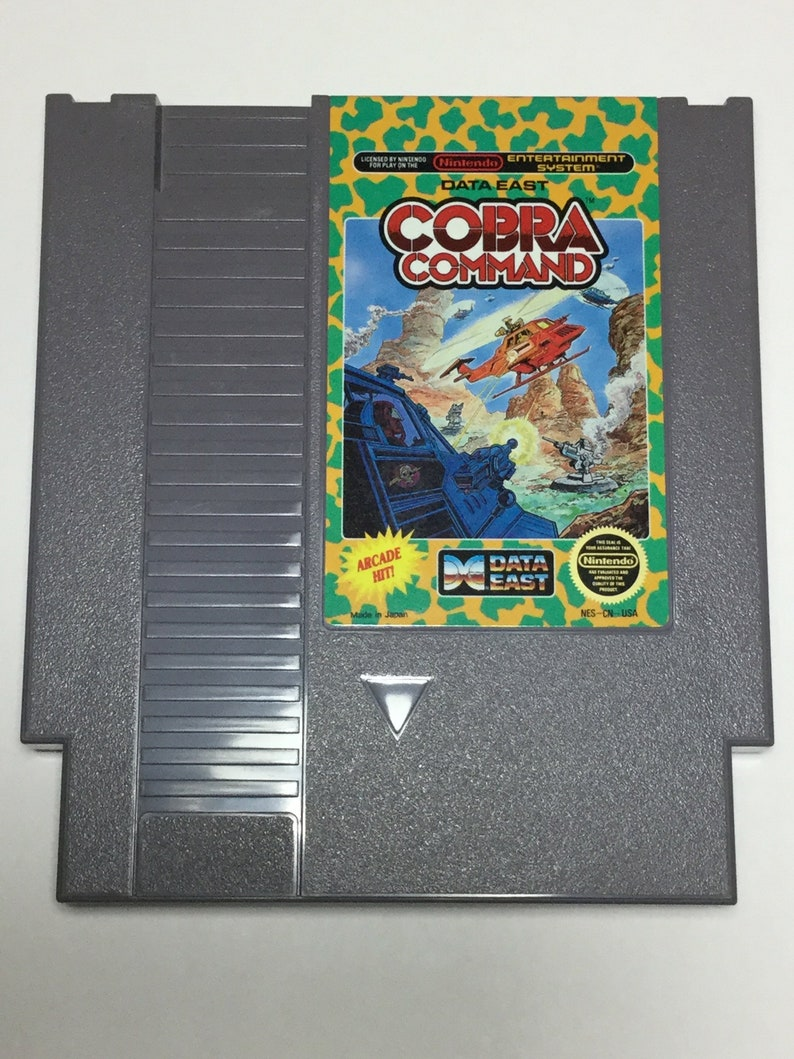 Cobra Command  Nintendo NES  Original Game Cart  Tested & image 0