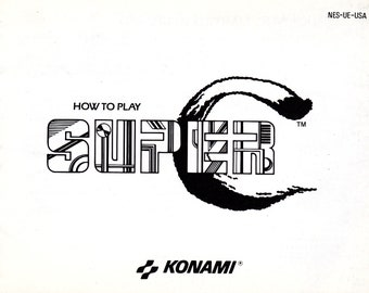 Super C - Nintendo NES - Original Manual Only - Authentic - Instruction Booklet