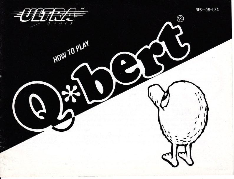 Qbert  Nintendo NES  Original Manual Only  Authentic  image 0