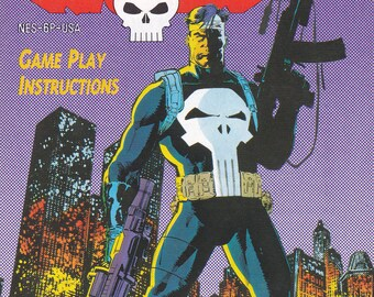 The Punisher - Nintendo NES - Original Manual Only - Authentic - Instruction Booklet