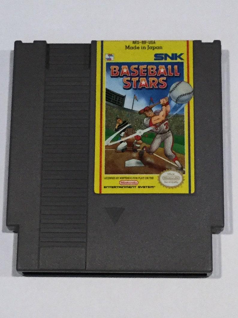 Baseball Stars  Nintendo NES  Original Game Cart  Tested & image 0