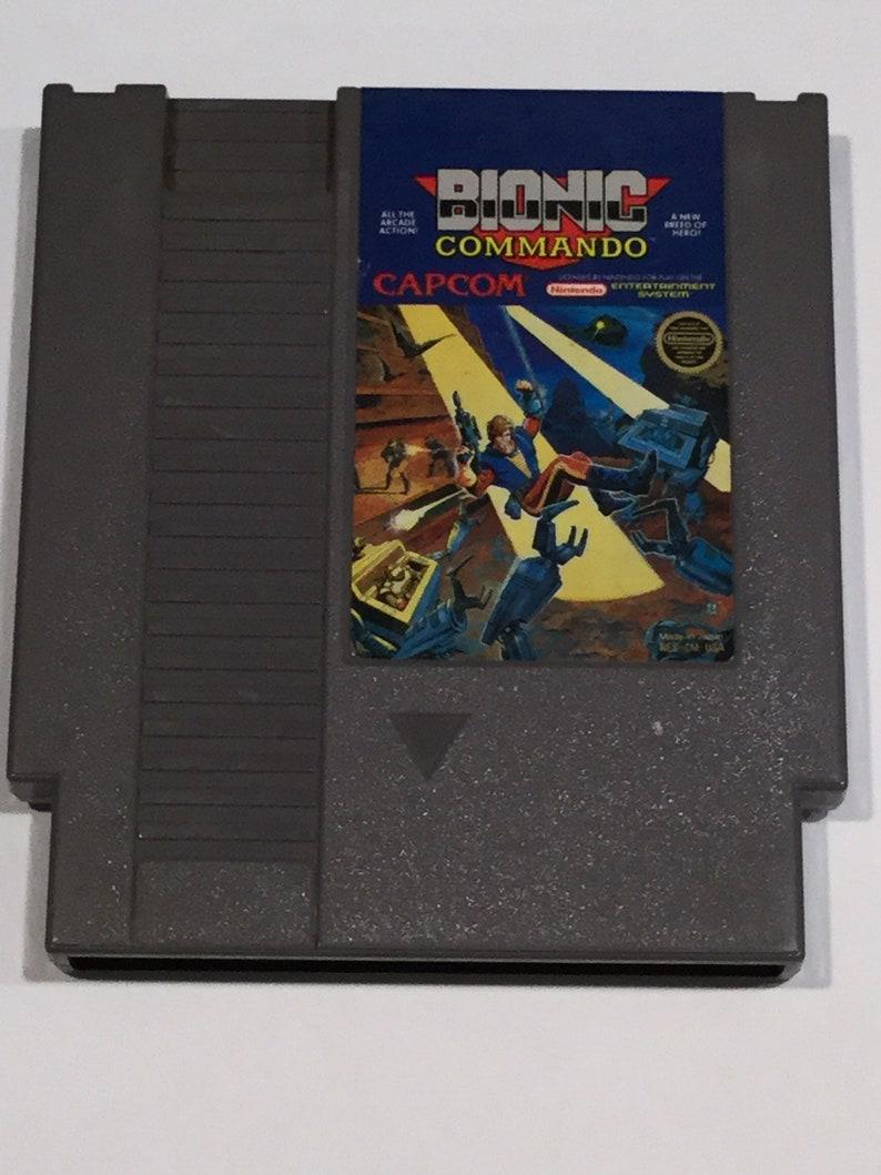 Bionic Commando  Nintendo NES  Original Game Cart  Tested & image 0