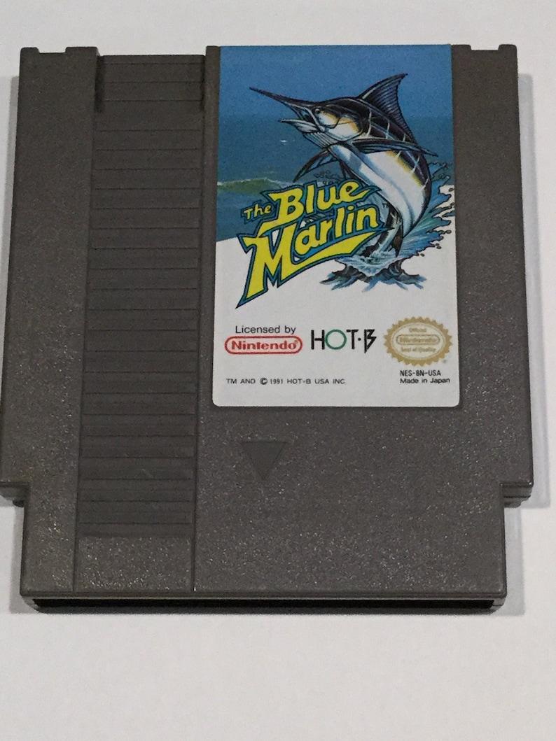The Blue Marlin  Nintendo NES  Original Game Cart  Tested & image 0