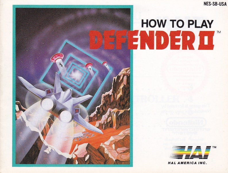 Defender II  Nintendo NES  Authentic Original Manual Only  image 0