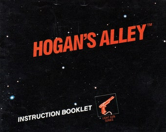 Hogan's Alley - Nintendo NES - Authentic Original Manual Only - Instruction Booklet