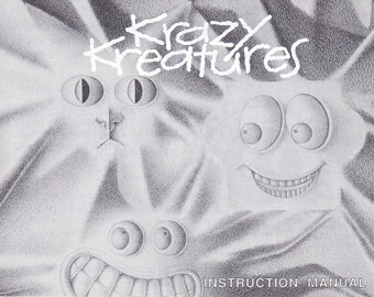 Krazy Kreatures - Nintendo NES - Authentic Original Manual Only - Instruction Booklet