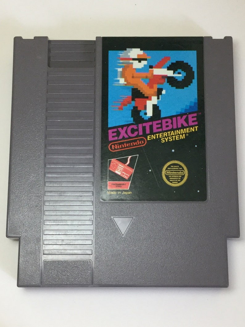 Excitebike  Nintendo NES  Original Game Cart  Cleaned & image 0