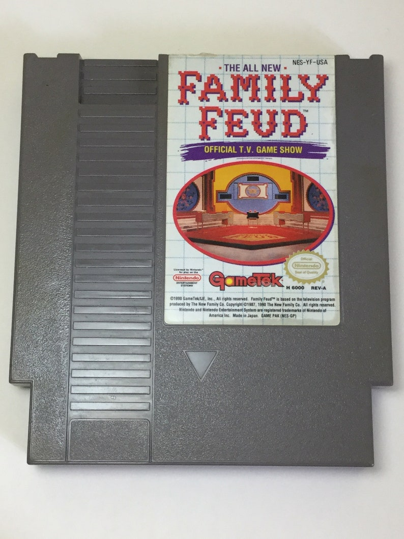 Family Feud  Nintendo NES  Original Game Cart  Cleaned & image 0