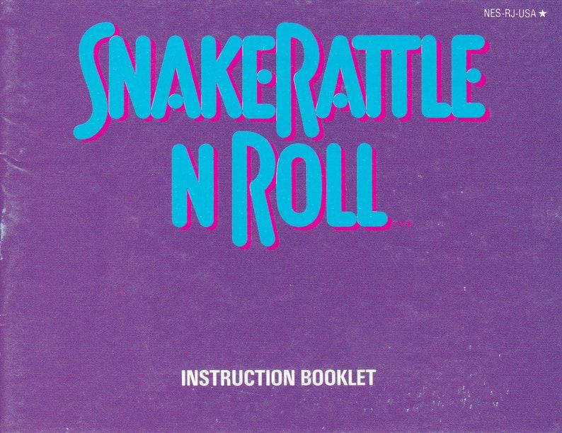 Snake Rattle n Roll  Nintendo NES  Authentic Original Manual image 0