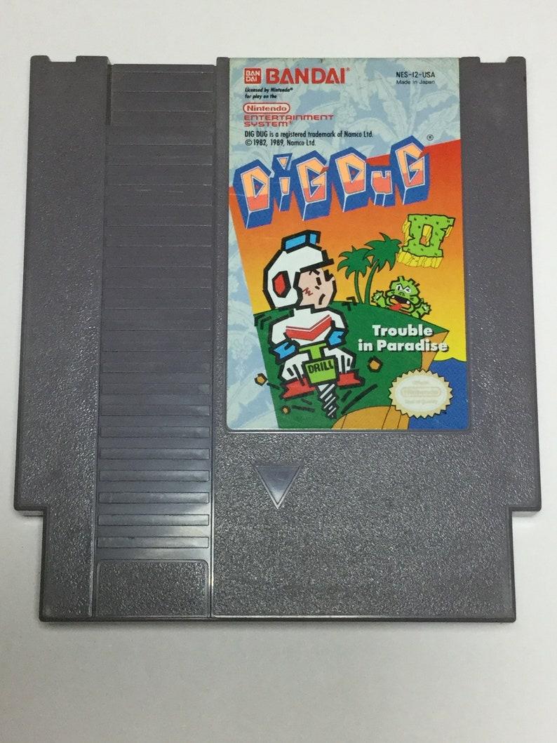 Dig Dug II  Nintendo NES  Original Game Cart  Tested & image 0