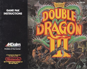 Double Dragon III - Nintendo NES - Original Manual ONLY - Authentic - Instruction Booklet