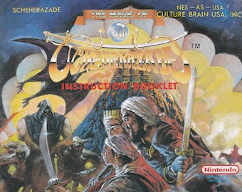 The Magic of Scheherazade - Nintendo NES - Original MANUAL ONLY - Authentic - Instruction Booklet