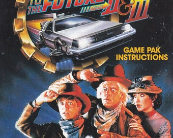 Back to the Future II and III - Nintendo NES - Original Manual Only - Authentic - Instruction Booklet