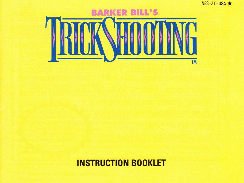 Barker Bill's Trick Shooting  Nintendo NES  Authentic image 0