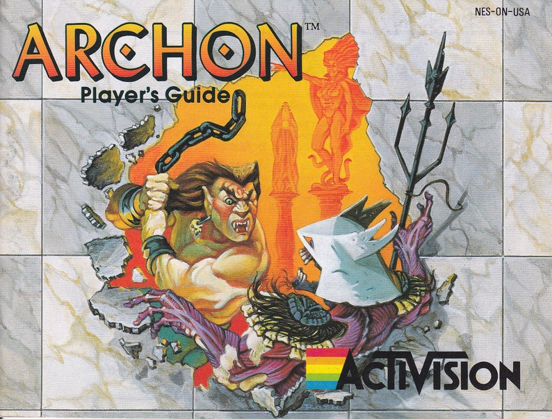 Archon  Nintendo NES  Original Manual ONLY  Authentic  image 0