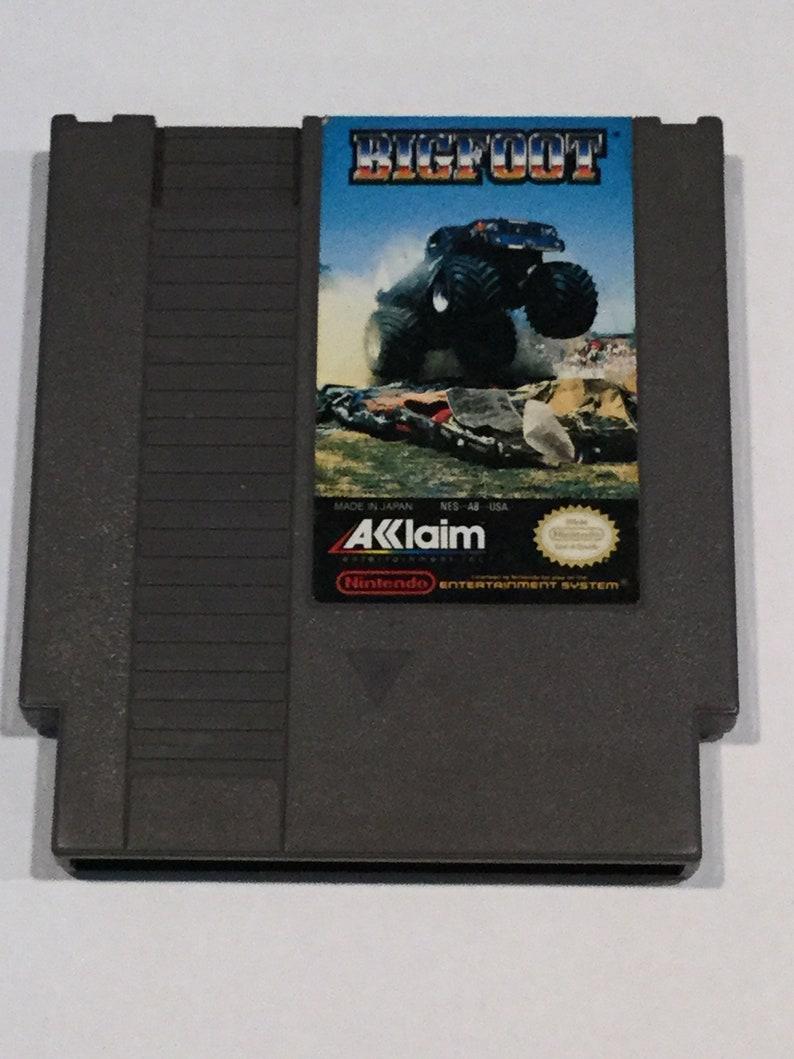 Bigfoot  Nintendo NES  Original Game Cart  Tested & Working image 0