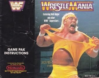 WWF Wrestlemania - Nintendo NES - Authentic Original Manual Only - Instruction Booklet