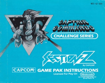Section Z - Nintendo NES - Original Manual Only - Authentic - Instruction Booklet